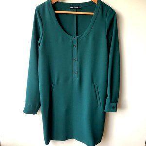 Filippa K Emerald Green Shift Dress Like New